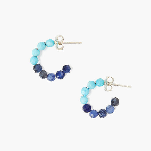 Turquoise & Sodalite Color Block Earrings