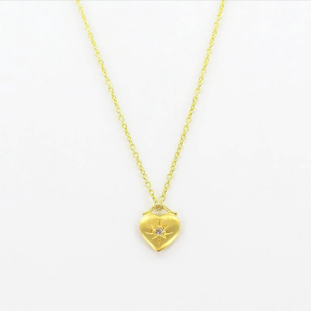 GOLD LITTLE HEART WITH STAR