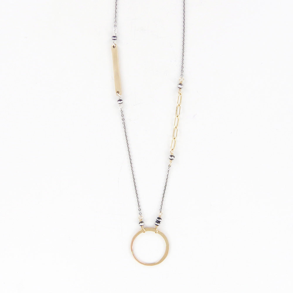 CIRCLE DOT BAR NECKLACE
