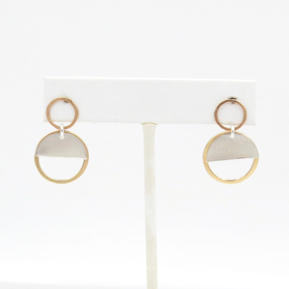 CIRCLE HALF MOON EARRING