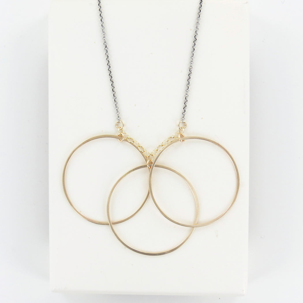 Three Large Circle Necklace