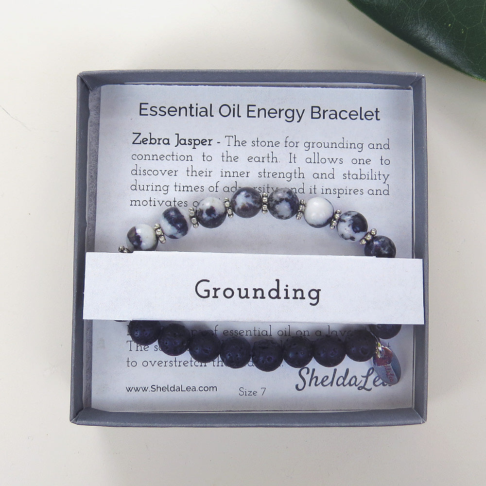 ESSENTIAL OIL ENERGY BRC - ZEBRA JASPER - GROUNDIN