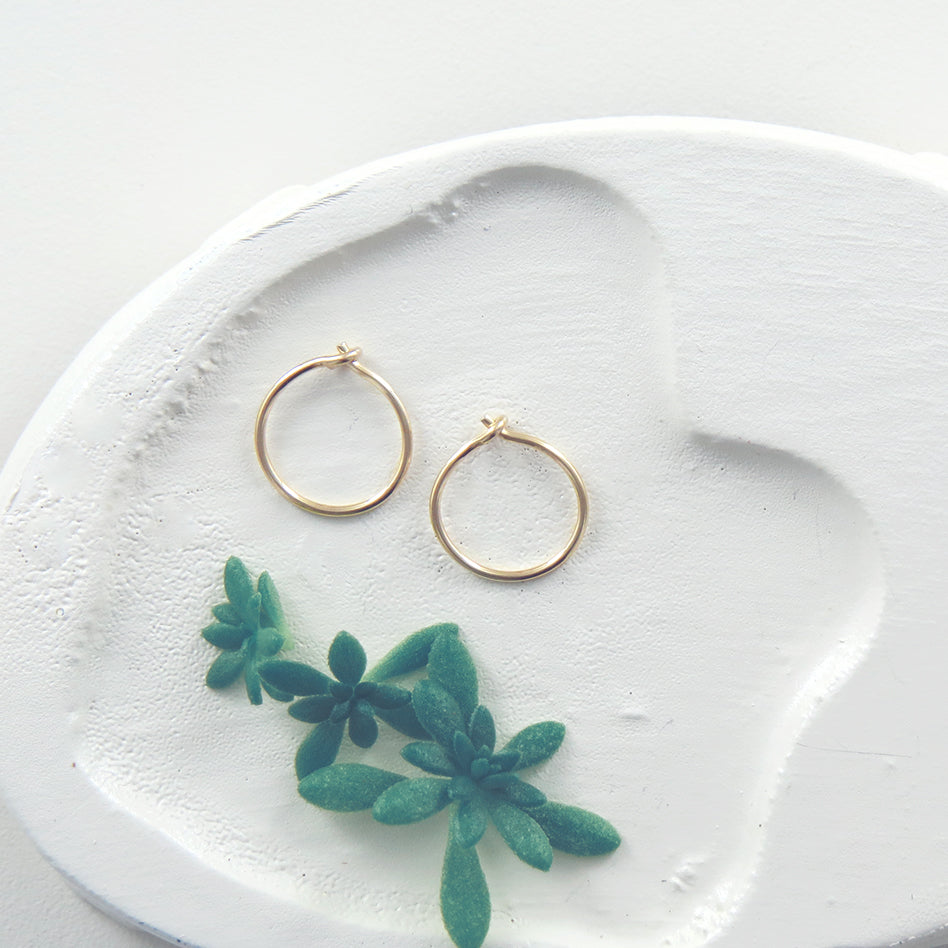 TINY TINY GOLD FILL HOOP