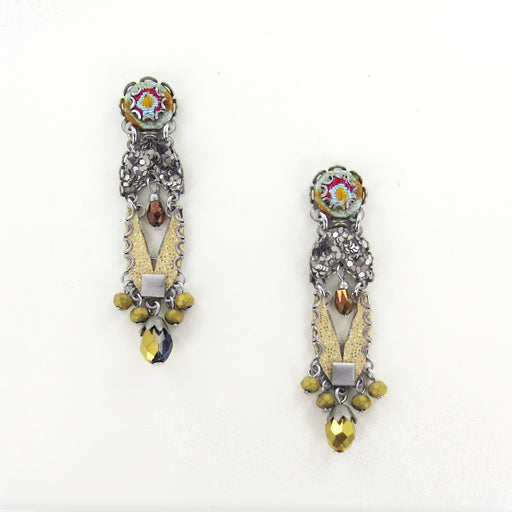 SGT. PEPPER EARRING AYALA BAR YELLOW POST DANGLE EARRINGS