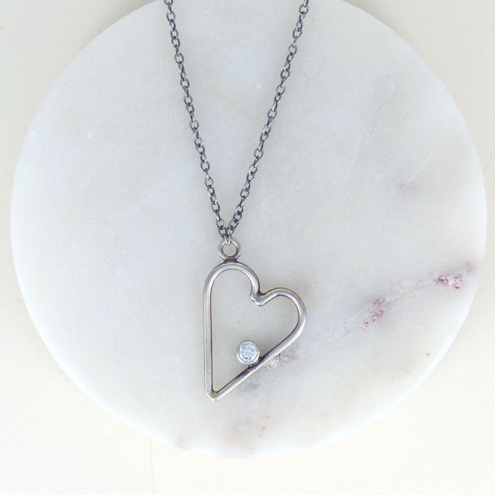 HANDMADE STERLING SILVER HEART NECKLACE