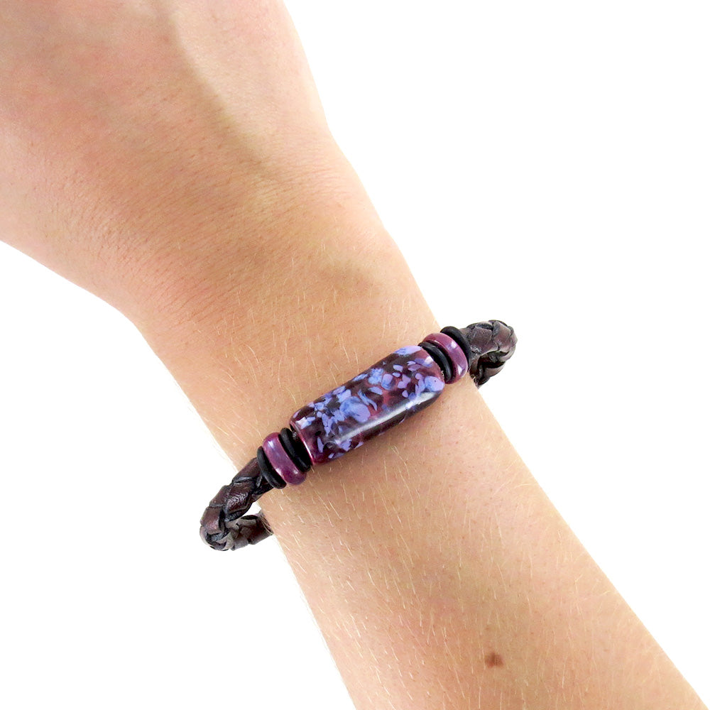 HUCKLEBERRY LEATHER BRACELET