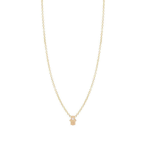 ITTY BITTY VERTICAL HAMSA NECKLACE