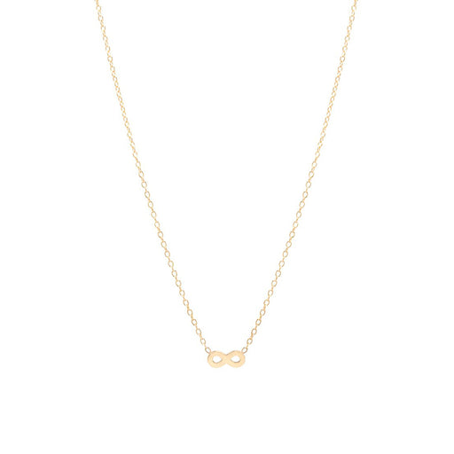 14K GOLD ITTY BITTY CENTERED INFINITY NECKLACE