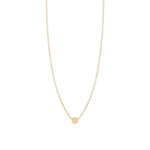 14K GOLD ITTY BITTY DISC NECKLACE