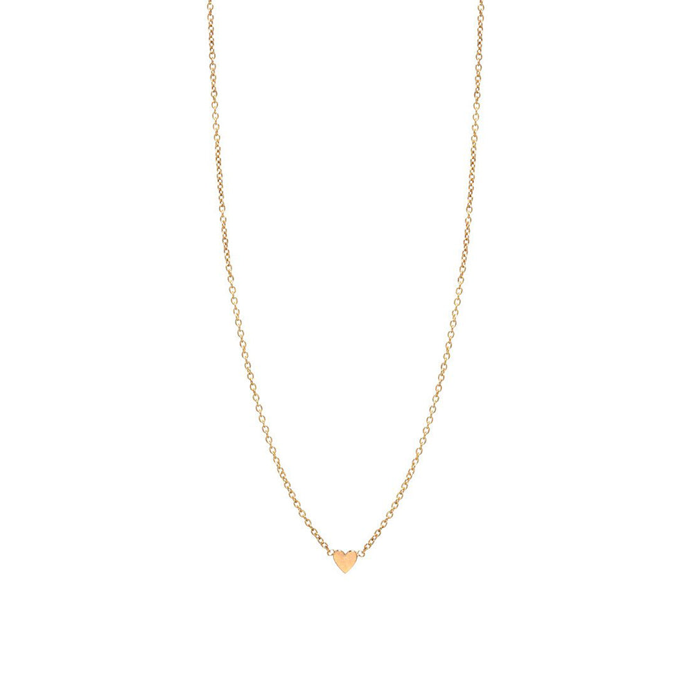 14K GOLD ITTY BITTY HEART NECKLACE