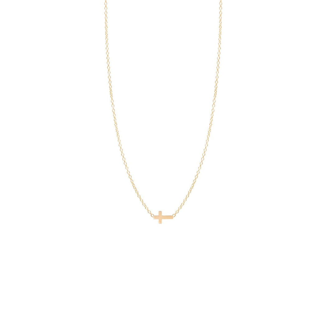 14k Gold Itty Bitty Cross Necklace