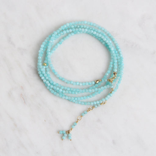 Amazonite Wrap Bracelet & Necklace