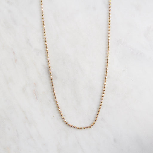 "14k Yellow Gold Ball Chain ~ 24"" 1.8mm"