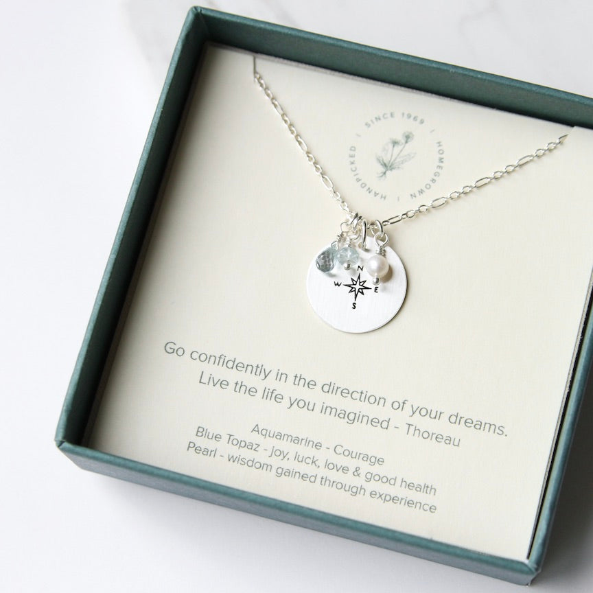 Thoreau Go Confidently Necklace