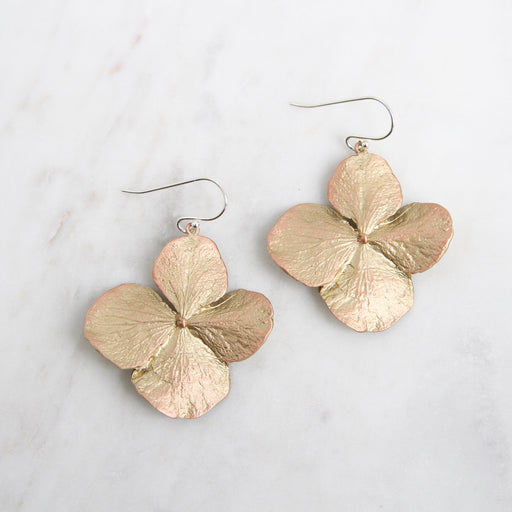 Hydrangea Large Drop Earring