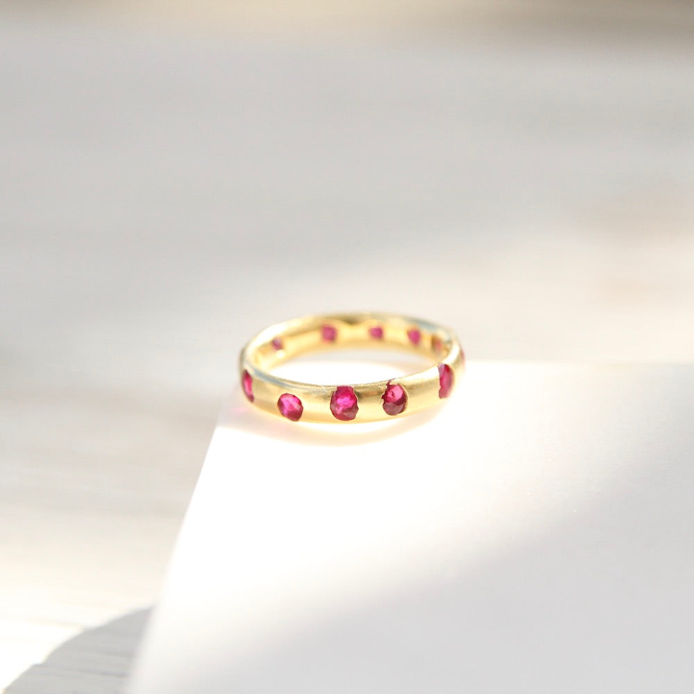 Polly Wales Ruby Celeste Crystal Ring