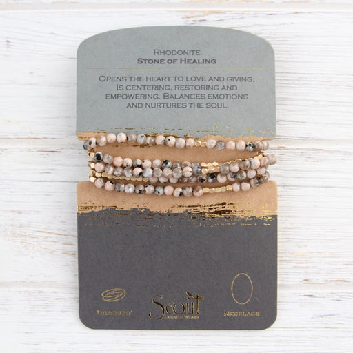 love and giving bracelet & necklace stone of healing