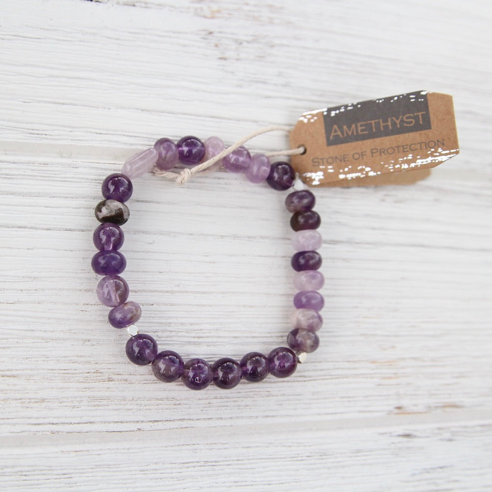 amethyst stone of protection bracelet