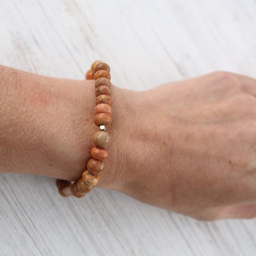 Scout Petrified Wood Stone Stacking Bracelet