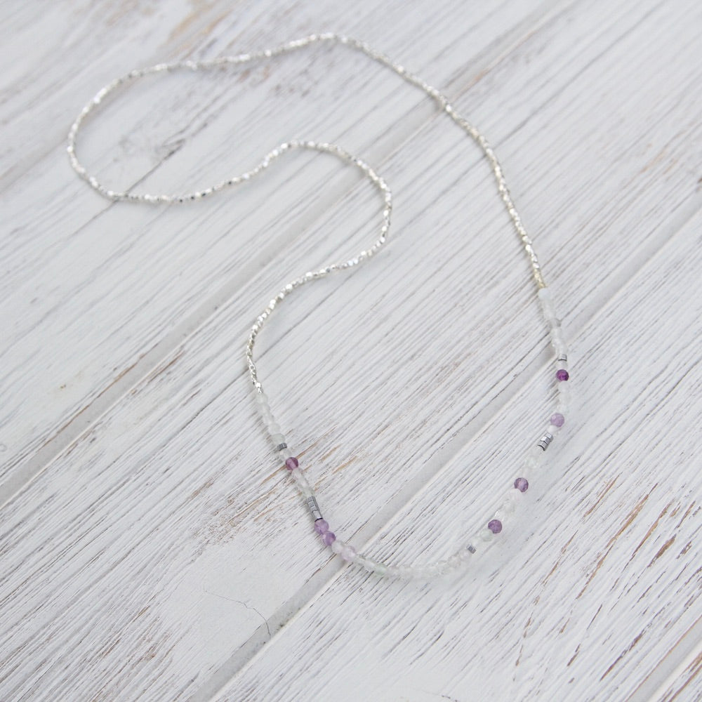 Scout Delicate Fluorite Wrap Bracelet and Necklace