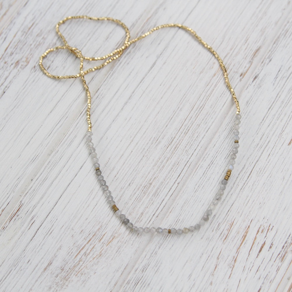 Scout Delicate Labradorite Wrap Bracelet and Necklace