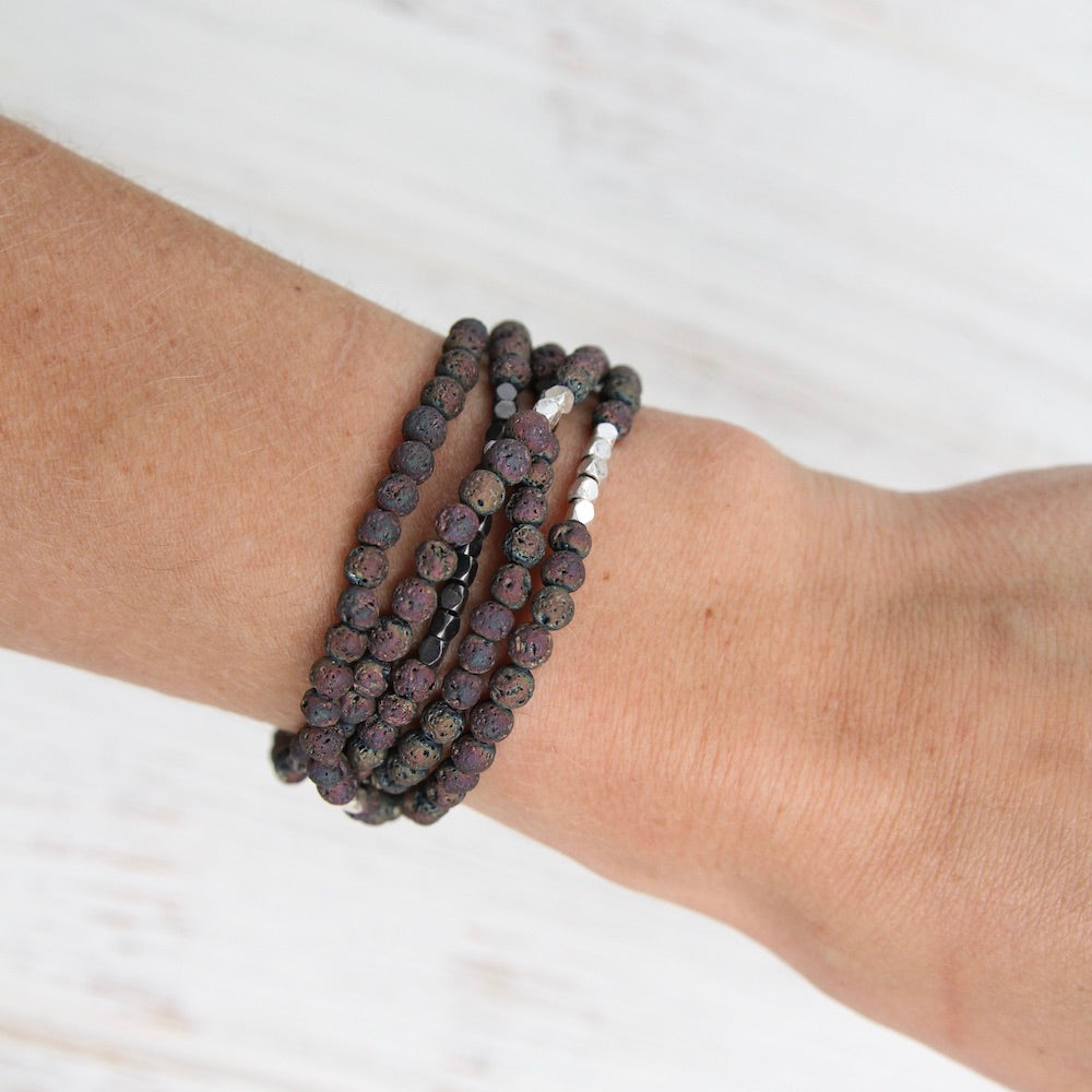 Scout Midnight Rose Lava Wrap Bracelet & Necklace