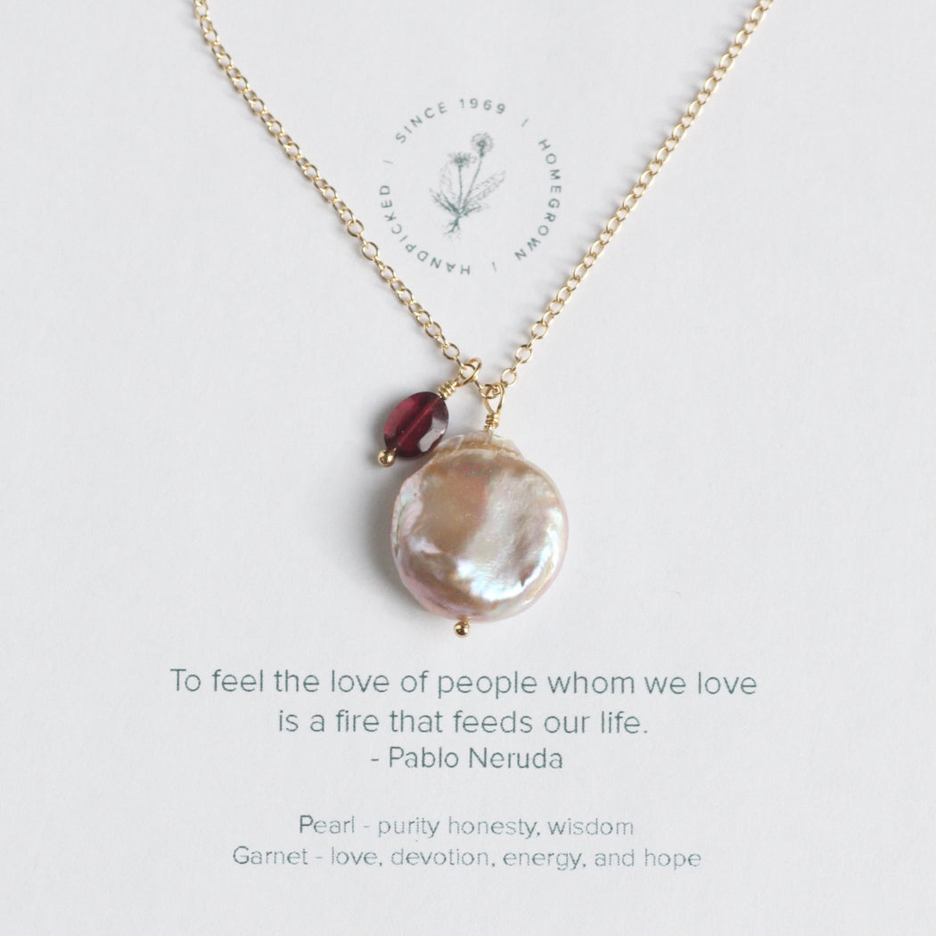 To Feel the Love Necklace - Pablo Neruda