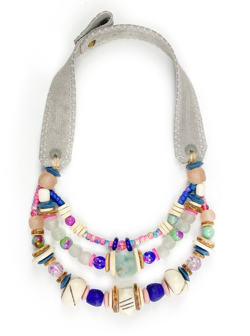 Layered Classic Necklace ~ Tie Dye