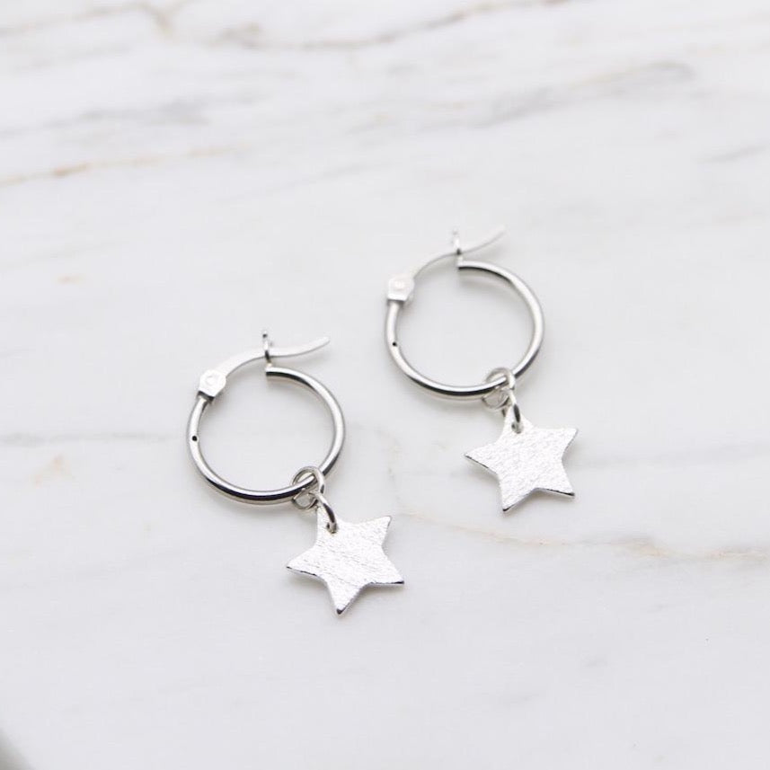 Kaia Hoops ~ Star Drop