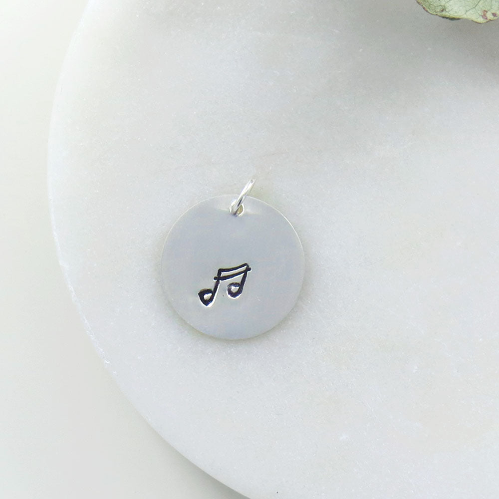 LARGE DISC MUSIC NOTE STAMP