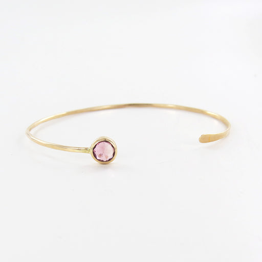 FACETED PINK TOURMALINE CUFF