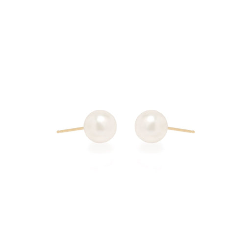 14K Large Pearl Studs