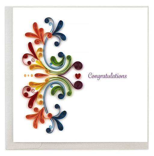 Large Rainbow Swirl Congratulations Card