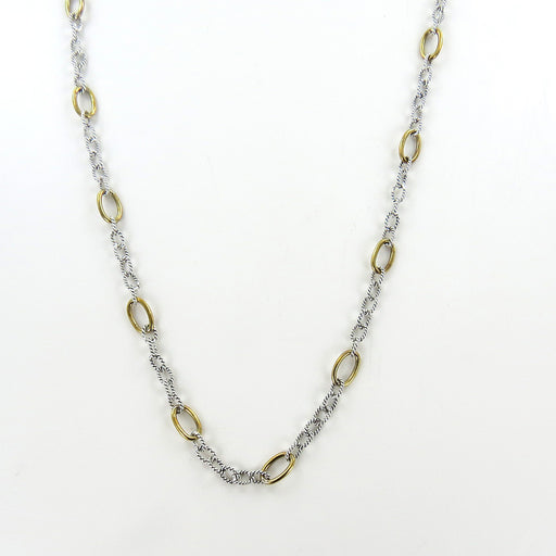 brass and silver chain