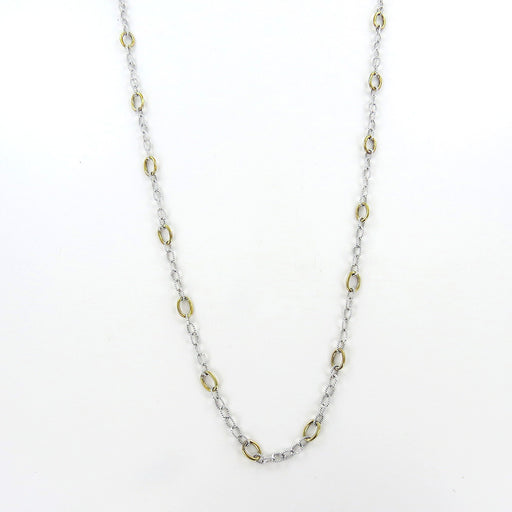 sterling silver and brass 30 inch chain