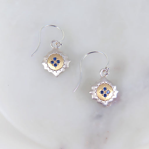 EAST AND WEST WITH SAPPHIRE EARRING