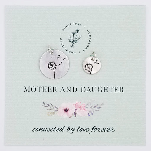 Mother Daughter Dandelion Puff Charms