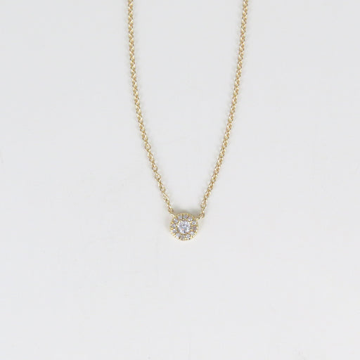TINY WHITE DIAMOND HAL NECKLACE
