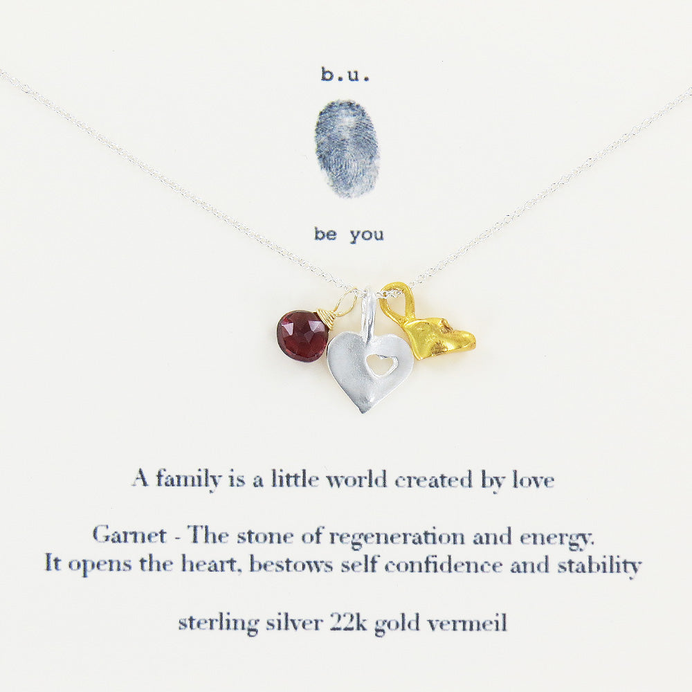 FAMILY IS A LITTLE WORLD NECKLACE