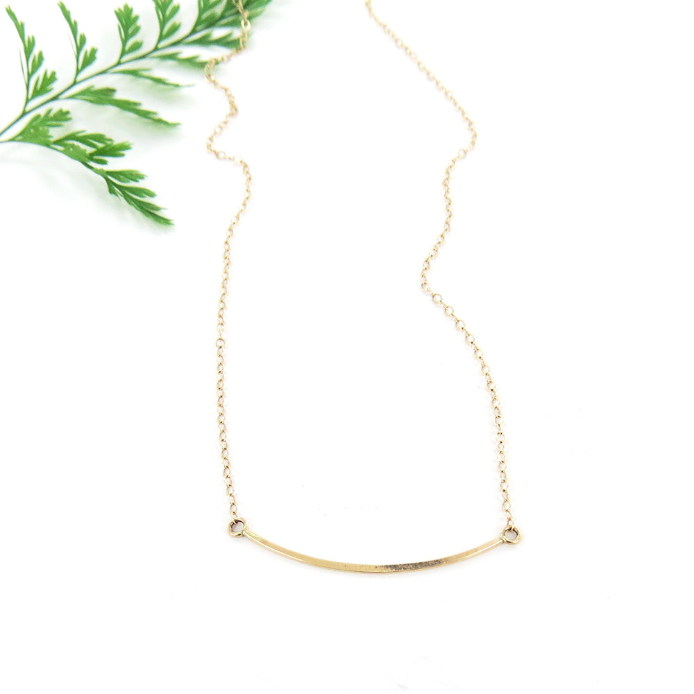 GOLD MINI BAR NECKLACE