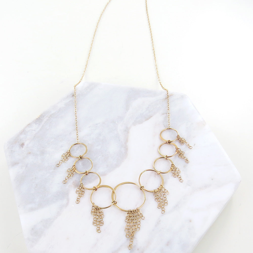 LOOP AND TASSEL NECKLACE