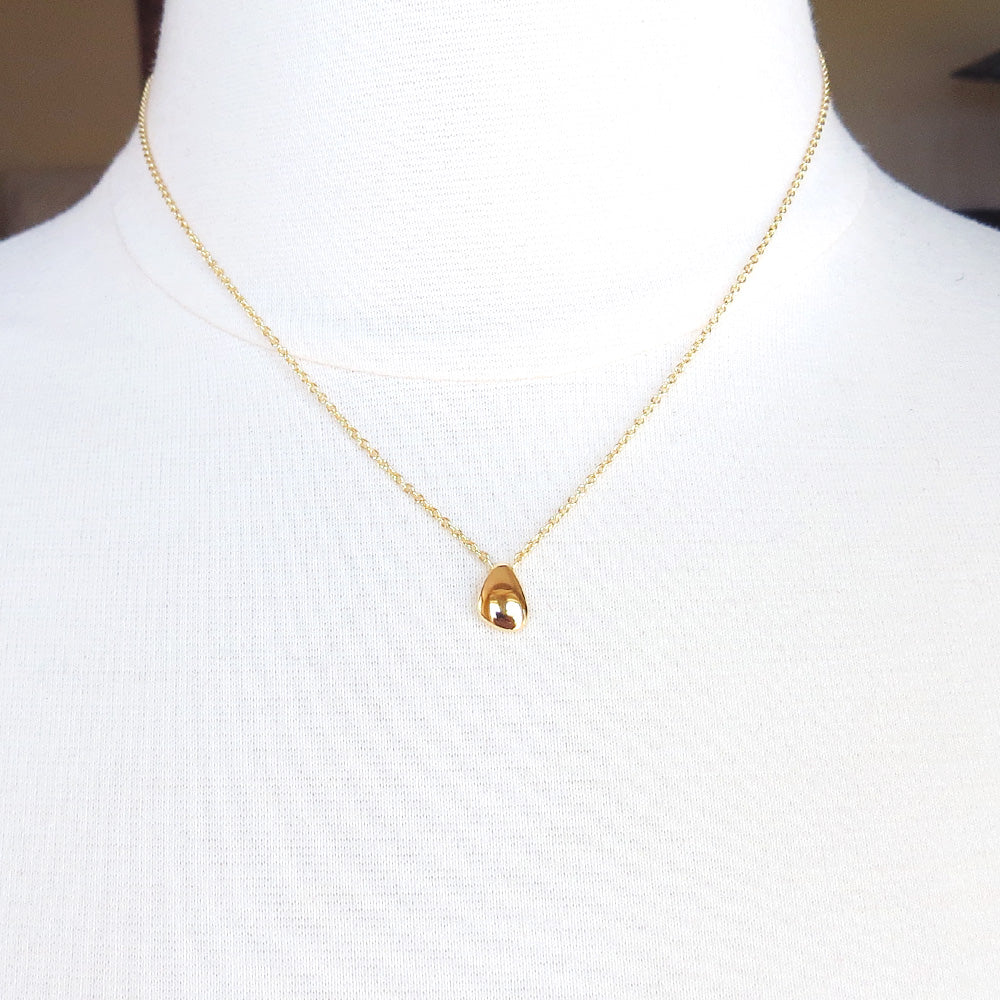 14K GOLD VERMEIL LITTLE BEAN NECKLACE