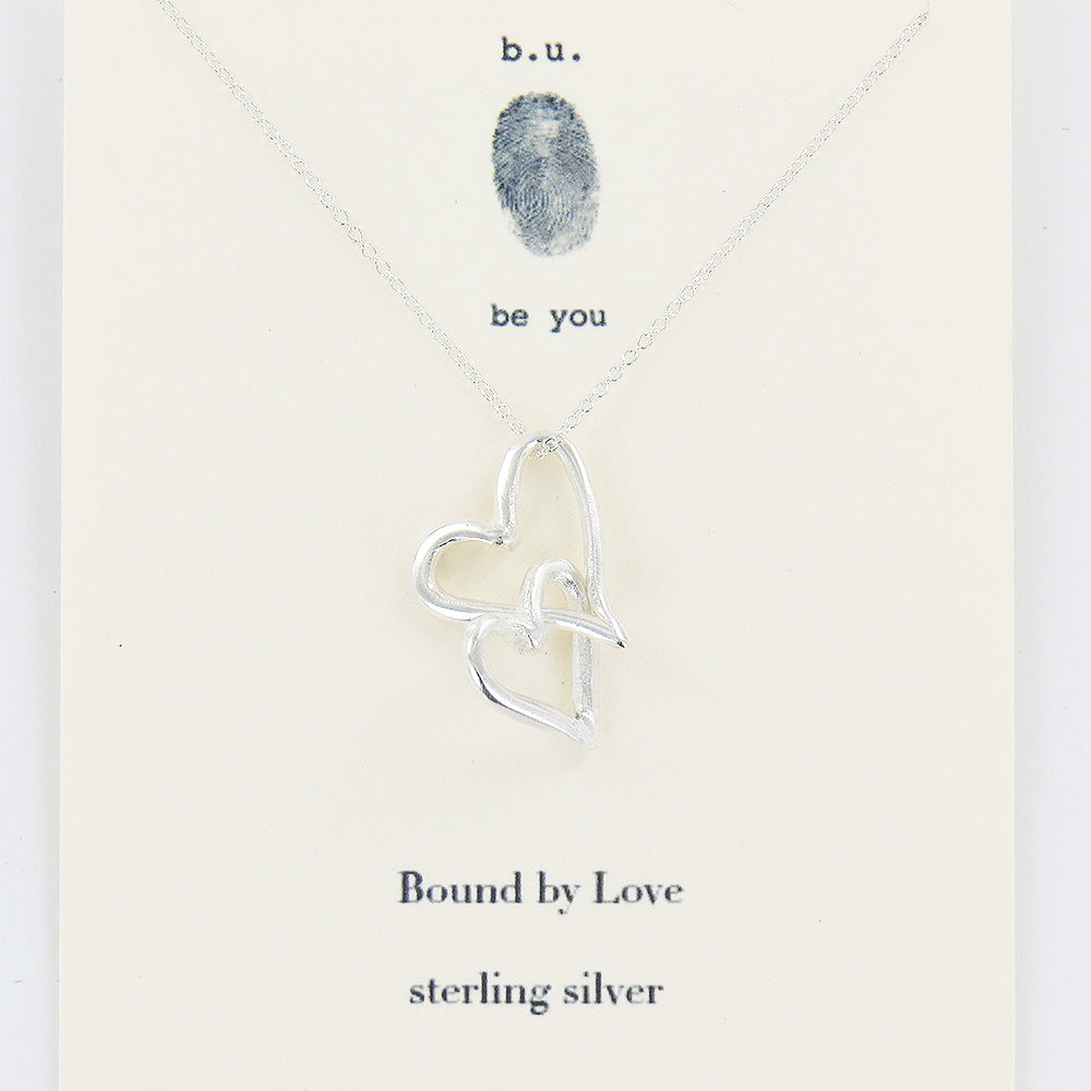 meaningful sterling silver charm necklace, Bound by Love