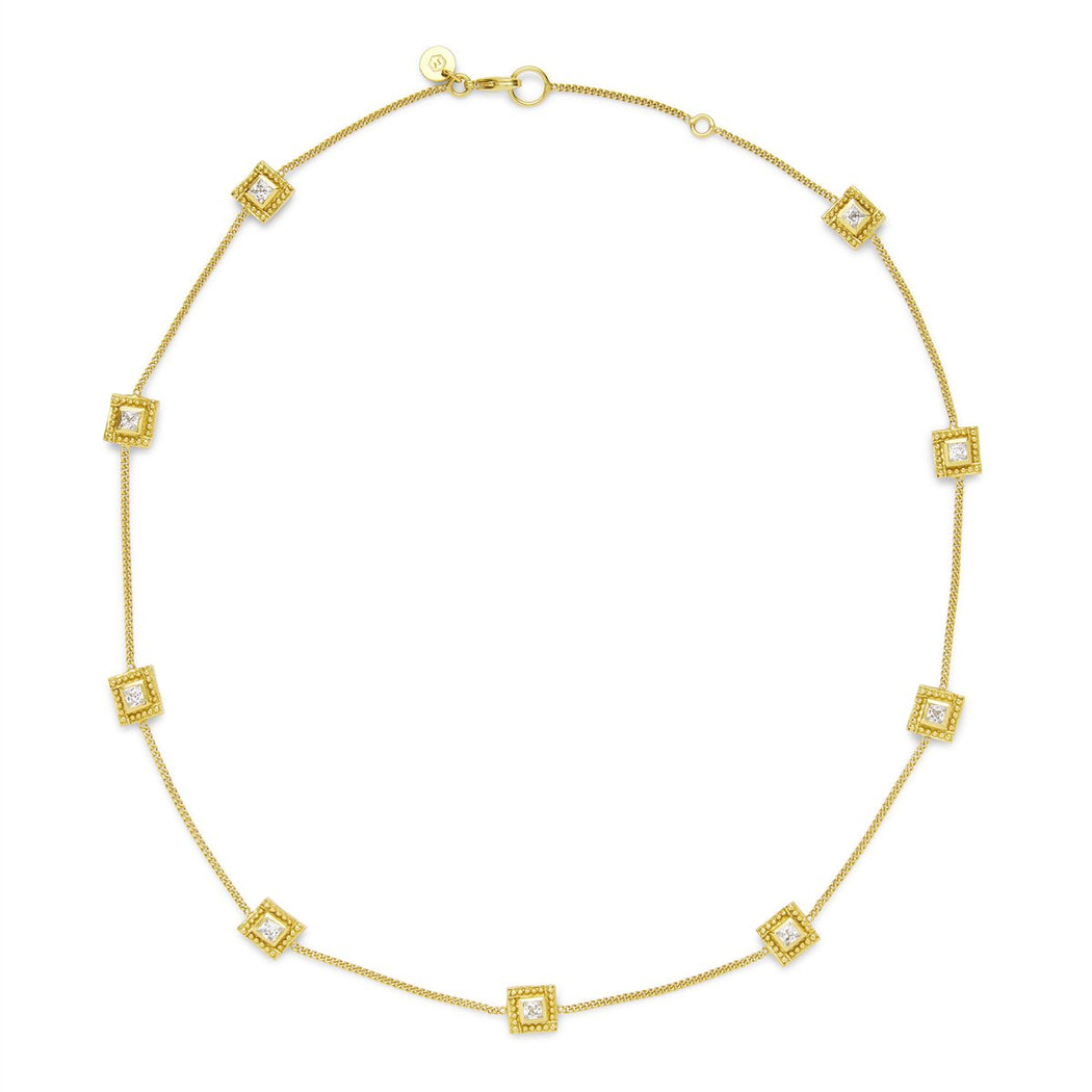 ISABEL ZIRCON STATION NECKLACE