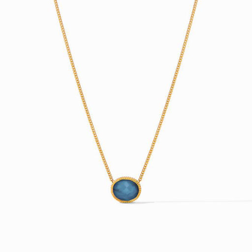 VERONA SOLITAIRE IRIDESCENT BLUE AZURE NECKLACE