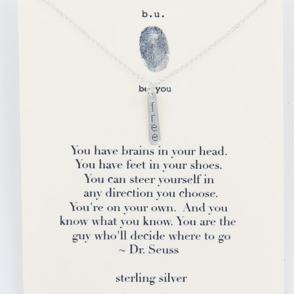 WORDS OF DR. SEUSS NECKLACE