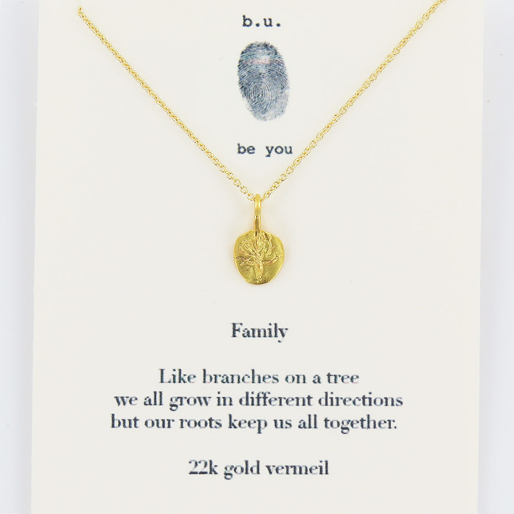 FAMILY VERMEIL NECKLACE