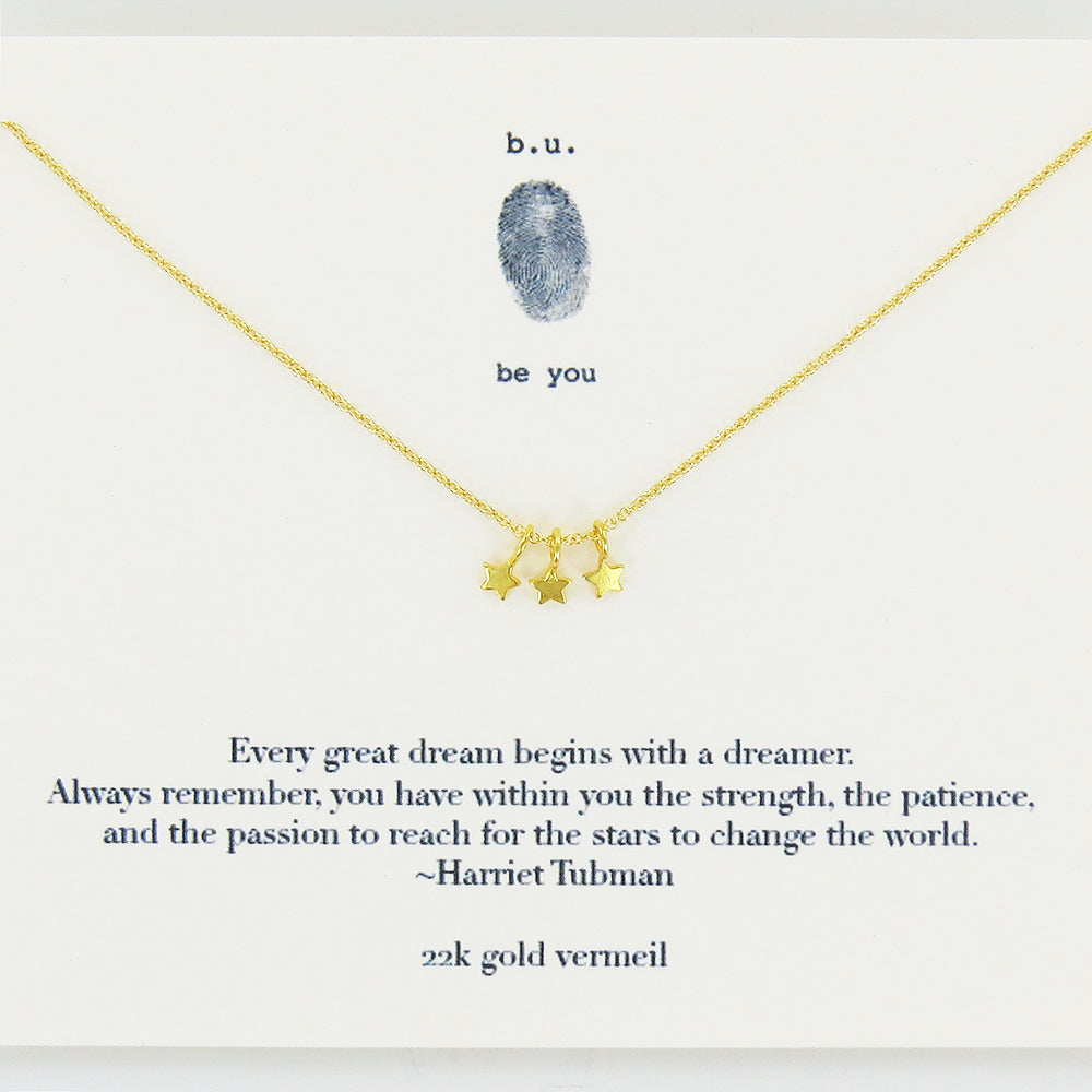 EVERY GREAT DREAM GOLD NECKLACE