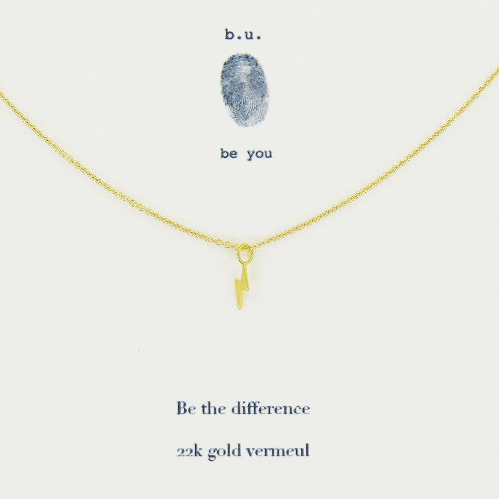 Meaningful 22k Gold Vermeil charm necklace, Be the Difference
