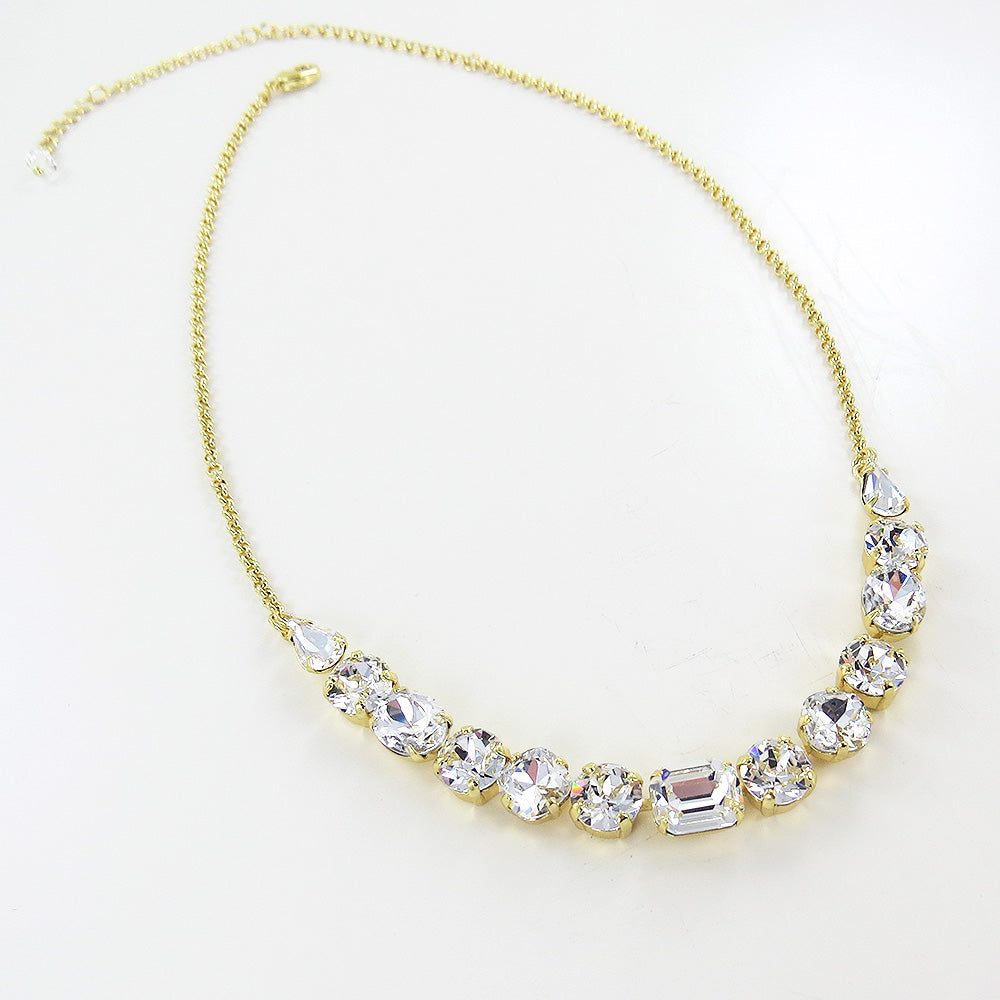 MIXED CUT CRYSTAL NECKLACE